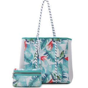 Floral Neoprene Tote & Mini Bag Beach Gym Expands